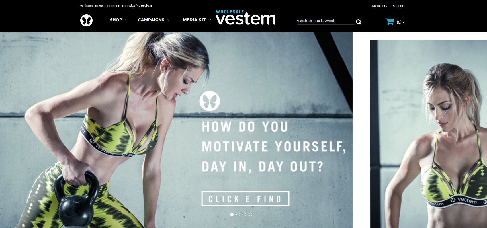Vestem Wholesale – Loja B2B VTEX com Smart Checkout Global